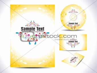abstract colorful ornamental artistic corporate template