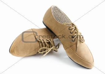 Leather lady shoes