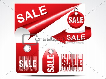 abstract glossy sale tag set
