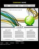 abstract web template with globe