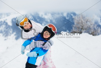 Young skiers.