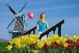 Dutch girl with balloon