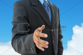 businessman hand to shake