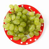Sweet grapes on a plate
