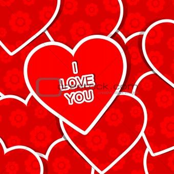 Valentine heart pattern, vector