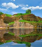 remains of the palace pool on mount Sigiriya, Sri Lanka (Ceylon)