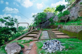 ancient ruins in the vicinity mount Sigiriya, Sri Lanka (Ceylon)