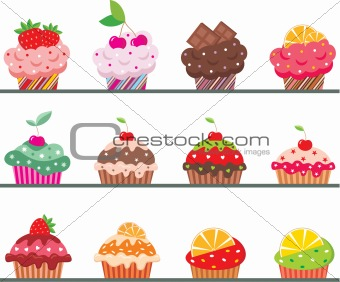 Cupcakes on a regiment
