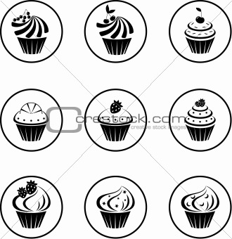 Cupcakes set