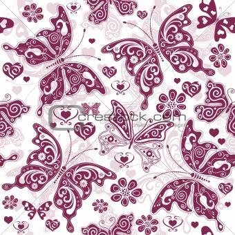 Floral purple valentine pattern