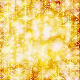 Background of defocussed golden lights with sparkles