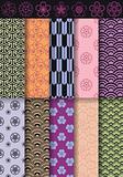 seamless asian patterns, vector