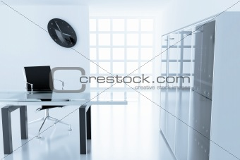 Light modern cubicle