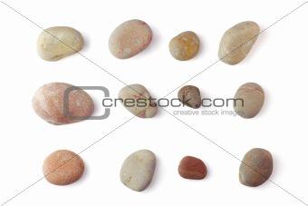 Sea pebbles collection