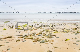 sand seacoast of English Channel in Brittany