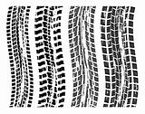 vector set of grungy tire prints