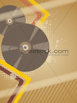 background with music plate