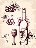 vintage wine icons