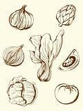 vintage vegetables