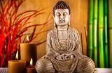 Buddha statue in a meditation
