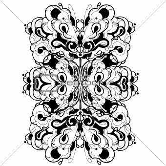 abstract graphic design in black and white