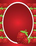 Simple Strawberry Background Design