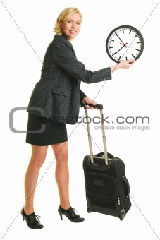 Traveller and clock
