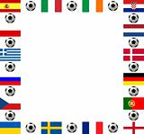 Square frame European football championship 2012