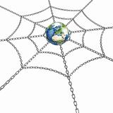 Earth with chain