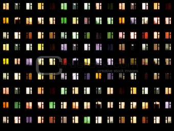 Seamless texture - night windows