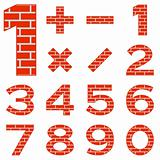 Numbers set brick