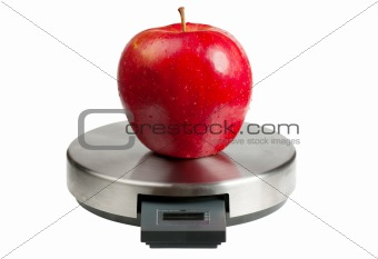 Apple on a scales