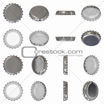 Silver crown cap