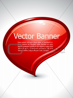 abstract glossy banner
