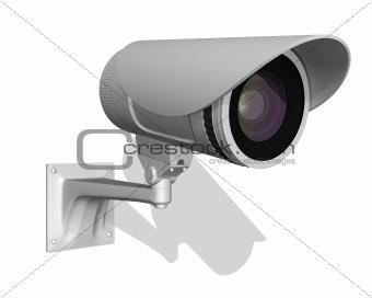 surveillance camera isolated on white background