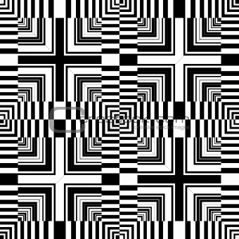 Seamless op art pattern. Abstract geometric design.