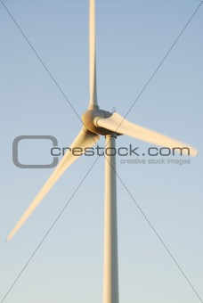 One Wind Turbine, Dawn Sky. UK