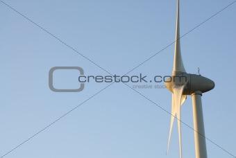 One Wind Turbine, Dawn Sky. UK