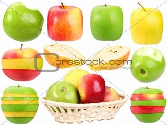 Abstract set of fresh strange fruits