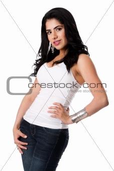 Beautiful happy young woman
