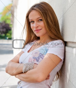 smiling young attractive woman