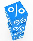 blue sale cubes tower