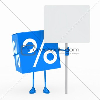 blue sale cube billboard