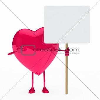pink heart show