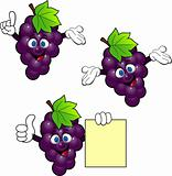 Grape Cartoon Character
