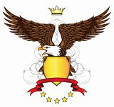 Eagle with emblem and shield