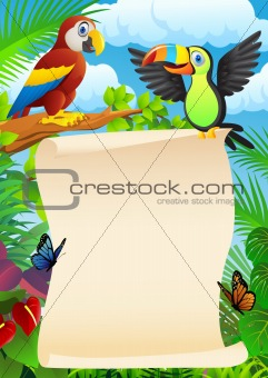 Bird With Blank Sign