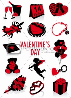 Valentine's Day silhouettes