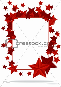 abstract background with two stars