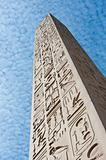 Ancient egyptian obelisk at a temple